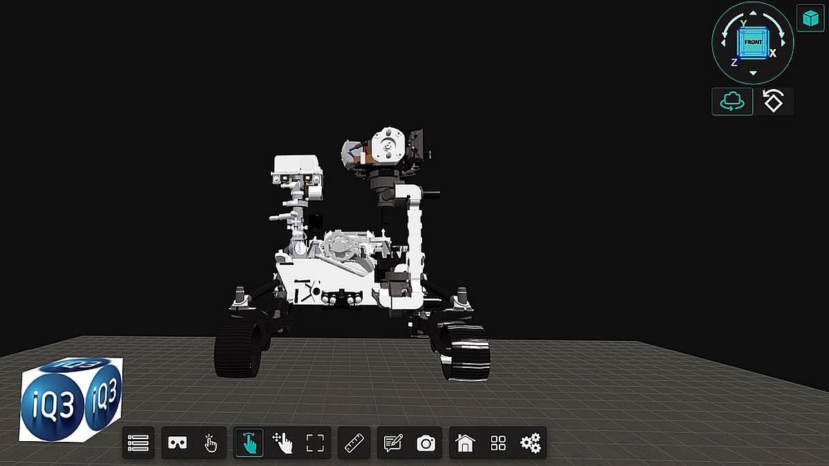Mars Curiosity Lander instant trial of iQ3Connect