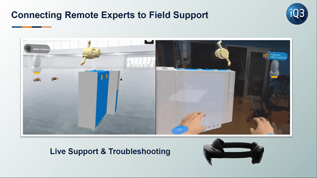 Remote Industrial Support with Virtual Reality